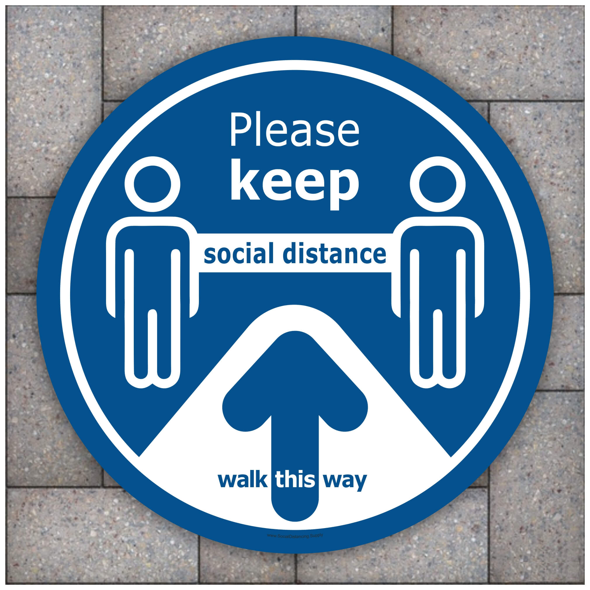20 Pack New With Defects Social Distancing Floor Stickers Signs Decal For Carpet