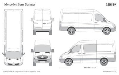 Mercedes Sprinter D Design Template